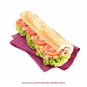 sandwich jambon cru et crabe